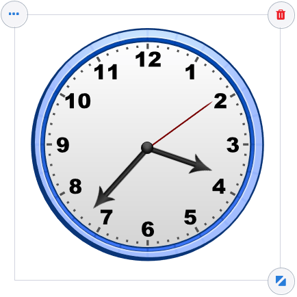 Teach your students to tell time with this analog clock for an interactive whiteboard from Gynzy.