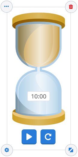 The Gynzy hourglass gives students an easy way to visualize the passing of time right on your smartboard.